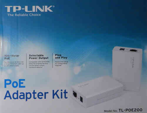 TPLINK TLPOE200 Power over Ethernet Injektor / Splitter Set