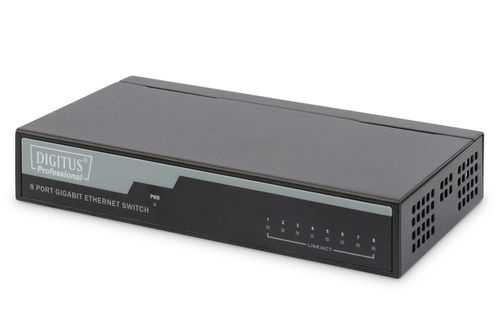 DIGITUS Professional 8-Port Gigabit Switch 1000 Mbps